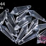 คริสตัลพลาสติก สีขาวใส 11X33มิล(1ขีด/64ชิ้น)