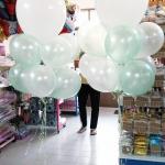 """ลูกโป่งจัมโบ้ สีขาว ขนาด 24 นิ้ว - Round Jumbo Balloon White color 24"""""""