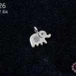 จี้ตัวแต่งเงินแท้ รูปช้าง 12 มิล (1ชิ้น)