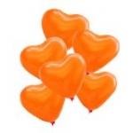 ลูกโป่งหัวใจเนื้อเมททัลลิก สีส้ม ไซส์ 12 นิ้ว แพ็คละ 10 ใบ (Heart Shape Balloon-Metallic Orange Color)