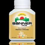 Banner Plus แบนเนอร์พลัส เหมาะกับผู้ที่อ่อนเพลีย ทำงานหนัก รับประทานอาหารไม่ครบห้าหมู่ เหมาะกับผู้ที่ต้องการดูแลสุขภาพเสริมวิตามินแร่ธาตุ ผลิตภัณฑ์นี้ใช้กรดอะมิโนแอซิด รวม 18 ชนิด ผสมวิตามินและแร่ธาตุ รวม 33 ชนิด 30 แคปซูล