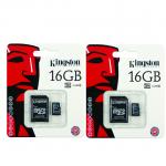 Kingston เมมโมรี่การ์ด Micro SD 16 GB (แพ็ค 2 ชิ้น)