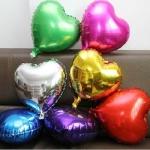 """ลูกโป่งฟลอย์รูปหัวใจ ไซส์เล็ก ขนาด 10 นิ้ว *กรุณาระบุสีที่ต้องการสั่งซื้อ*- Heart Shape Foil Balloon Small Size 10"""""""