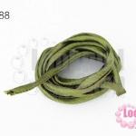 เชือกผ้า ไส้ไก่ สีเขียวขี้ม้า (1เส้น/2เมตร)