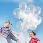 """ลูกโป่งกลมเนื้อคริสตัล ใสไม่มีสี ไซส์ 12 นิ้ว แพ็คละ 10 ใบ (Round Balloons - Crystal Clear Color 12"""")"""