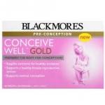 Blackmores-Conceive-Well-Gold วิตามินและอาหารเสริมสำหรับผู้หญิงเตรียมตัวมีลูก-มีบุตรยาก