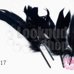 ขนนก(ก้าน) สีดำ (5 ชิ้น)