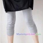 กางเกงเลคกิ้งคลุมท้อง ผ้าคอตตอน : สีเทา รหัส PN045