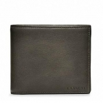 กระเป๋าผู้ชาย COACH bleecker legacy leather compact id 74345 : New Dark Grey