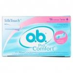 (Regular 16ชิ้น) O.B. Pro Comfort ผ้าอนามัย แบบสอด โอบี ขนาดธรรมดา สำหรับวันมาปกติ-มามาก