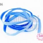 เชือกผ้า ริบบิ้นกำมะยี่ สีน้ำเงิน (1เส้น/1หลา)