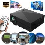 โปรเจคเตอร์รุ่น Projector mini รุ่น GM60 คุณพร้อมหรือยัง ที่จะสร้างโรงหนังส่วนตัวไว้ในบ้าน ด้วยmini projector เชื่อมต่อได้ทั้ง AV, HDMI, SD card, USB, earphone ดูหนังจาก SD card /USB disk ได้โดยตรง ขนาดเล็กกะทัดรัด พกพาสะดวก ดีไซน์สวย คุณสมบัตรครบถ้วนยอดเ