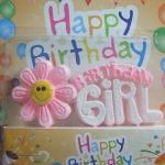 เทียนวันเกิด Birthday Girl สีชมพูมีดอกไม้ / Item No. TL-N003