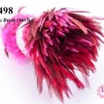 ขนนกก้าน สีชมพู (50กรัม)
