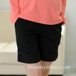 กางเกงคลุมท้องขาสั้น สีดำ : Size XL รหัส PN023
