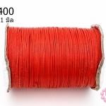 เชือกค๊อตต้อนเคลือบ สีแดง 1.0มิล (1ม้วน/100หลา)