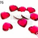 เพชรแต่ง หัวใจ สีบานเย็น ไม่มีรู 14มิล(10ชิ้น)