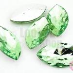 เพชรแต่ง ทรงรี สีเขียวอ่อน ไม่มีรู 18X32มิล(1ชิ้น)