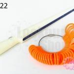 ทีวัดแหวนพร้อมห่วงแหวน สีส้ม (1ชุด)