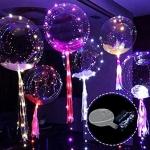 ลูกโป่งใส BoBo Balloon ทรงกลมลูกบอล ไซส์ 18 นิ้ว + สายไฟ LED นำเข้าจากจีน / (ไม่รวมของด้านใน) Item No. TL-G055