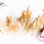 ขนนก(ก้าน) สีน้ำตาลธรรมชาติ (20ชิ้น)