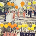 """ลูกโป่งกลม สีส้ม ไซส์ 18 นิ้ว จำนวน 1 ใบ (Round Balloon - Standard Orange Color 18"""")"""
