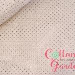 ผ้าคอตตอนลายจุดดำพื้นขาว ของ D's Selection (Patchwork Basic Collection) ขนาด 1 มม