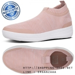 US8.5 : Fitflop Uberknit Sneaker Metallic Neon Blush / Urban White ของแท้ นำเข้าจาก USA และ UK