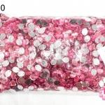 เพชรแต่ง ทรงรี สีชมพูอ่อน มีรู 8X10มิล(1ถุง/2,880ชิ้น)