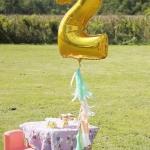 """ลูกโป่งฟอยล์รูปตัวเลข 2 สีทอง ไซส์จัมโบ้ 40 นิ้ว - Number 2 Shape Foil Balloon Size 40"""" Gold Color"""