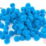 ปอมปอมไหมพรม สีฟ้าเข้ม 2 ซ.ม (100ลูก)