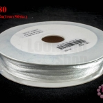เชือกหางหนู สีขาวหม่น 3มิล(1หลา/90ซม.)