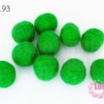 ลูกบอล Feit 15มิล #3 สีเขียวแก่ (5ลูก)