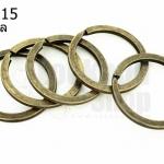 ห่วงพวงกุญแจ 2 ชั้น ทองเหลือง 30 มิล(5ชิ้น)