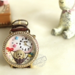 Pre-order: Hot air balloons cartoon dog Mini watch