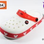 รองเท้าหัวปิด ADDA Mickey Mouse แอดด๊ามิกกี้เมาส์ รหัส 52705 สีขาว เบอร์ 4-6