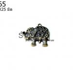 จี้รูปช้าง สีเหลือง 22X25 มิล (1ชิ้น)