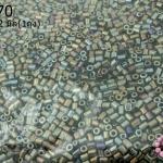 ลูกปัดจีน ปล้องสั้น สีสนิมเหลือบรุ้ง 2X2มิล (1ถุง/450กรัม)