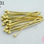 ตะปูหัวหมุด สีทองเหลือง (หนา) 30มิล (10กรัม)