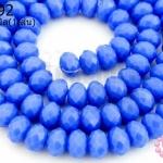 คริสตัลจีน ทรงซาลาเปา สีน้ำเงินขุ่น 6มิล(1เส้น)