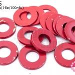 ห่วงโลหะ สีแดง 18มิล(1ขีด/100กรัม)