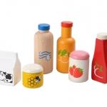 ของเล่นไม้ ของเล่นเด็ก ของเล่นเสริมพัฒนาการ Food & Beverage Set ชุดเครื่องดื่ม [ส่งฟรี]