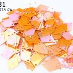 เลื่อมข้าวหลามตัด สีส้มเหลือบ 11X15มิล (5กรัม)