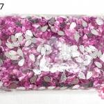 เพชรแต่ง หยดน้ำ สีชมพู มีรู 8X13มิล(1ถุง/2,880ชิ้น)