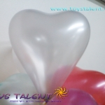 ลูกโป่งหัวใจ เนื้อเมททัลลิค สีเงิน ไซส์ 6 นิ้ว แพ็คละ 10 ใบ