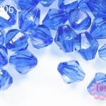 คริสตัลพลาสติก ทรงไบโคน สีน้ำเงิน 8 มิล 1 ขีด