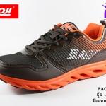 ผ้าใบวิ่ง BAOJI บาโอจิ รุ่น DK99349 สีน้ำตาลส้ม เบอร์ 41-45