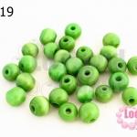 ลูกปัดแก้ว ตาแมว สีเขียว 8มิล (1ขีด/100กรัม)