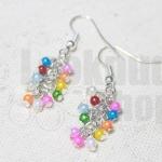 DiY idea : ต่างหูลูกกวาดสลับสี Candy Pearl Earring