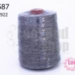 เชือกเทียน ตราลูกบอล(ม้วนใหญ่) สีเทา 922 (1ม้วน)